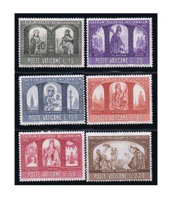 Vaticano 0451/56 Milenario del Cristianismo en Polonia 1966.  - 2