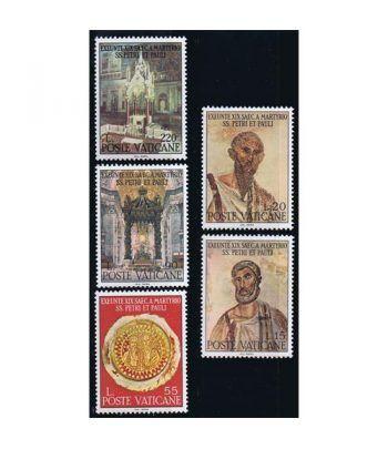 Vaticano 0466/70 19 Centenario muerte S. Pedro y S.Pablo 1967.  - 2