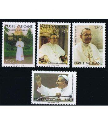 Vaticano 0662/65 Pontificado Juan Pablo II 1978.  - 2