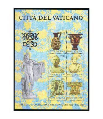 Vaticano HB 05 Arte Vaticano en Estados Unidos 1983  - 2