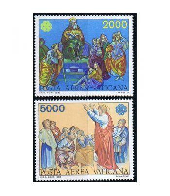 Vaticano Aereo 073/74 Año Mundial Comunicaciones.  - 2