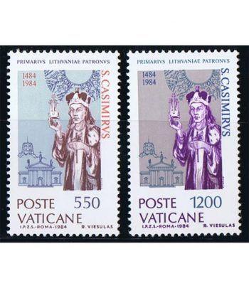 Vaticano 0749/50 500 Años Muerte Casimiro de Lituania 1984.  - 2