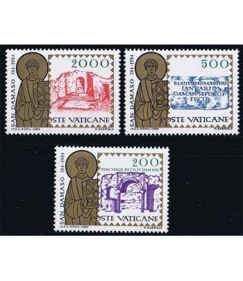 Vaticano 0767/69 16º Centenario muerte San Damaso 1984.  - 2