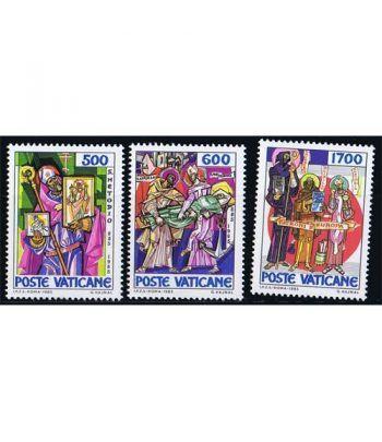 Vaticano 0770/72 1100º Aniversario muerte San Metodio 1985.  - 2