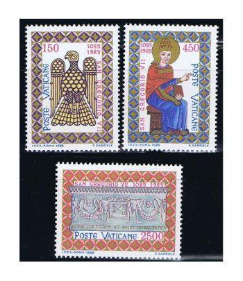 Vaticano 0776/78 9 Centenario muerte San Gregorio VII 1985.  - 2