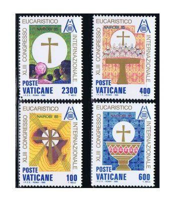 Vaticano 0779/82 43º Congreso Eucarístico Nairobi 1985.  - 2