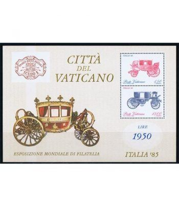 Vaticano HB 08 Exposición Filatélica Italia' 85. 1985.  - 2