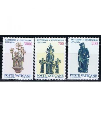 Vaticano 0806/08 Bautismo de Lituania 1987.  - 2