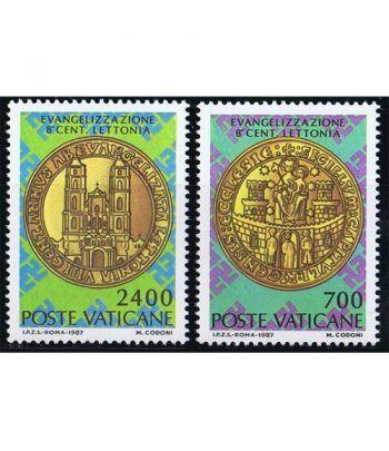Vaticano 0809/10 Evangelización de Letonia 1987.  - 2