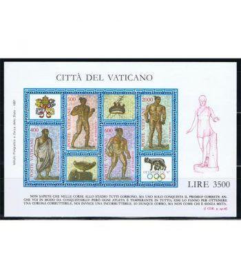 Vaticano HB 09 Exposición Filatélica Olymphilex' 87.  - 2