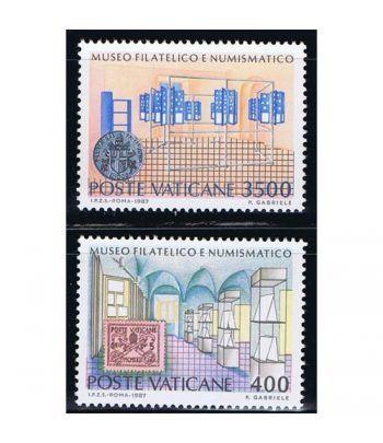 Vaticano 0815/16 Museo Filatelico y Numismático 1987.  - 2