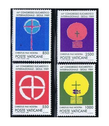 Vaticano 0860/63 44º Congreso Eucarístico Seul 1989.  - 2