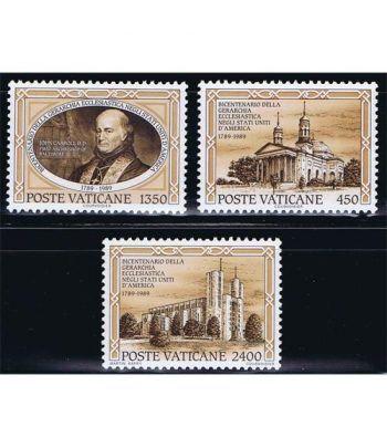 Vaticano 0864/66 Gerarquia Eclesiástica EEUU 1989  - 2
