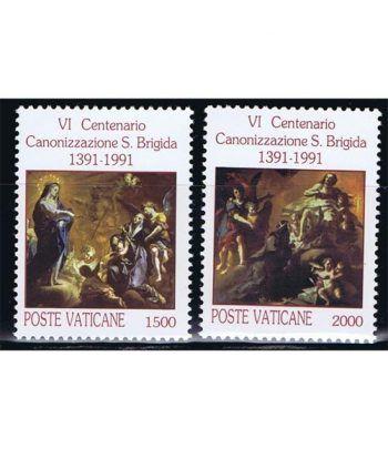 Vaticano 0906/07 Canonización Santa Brigitte 1991.  - 2