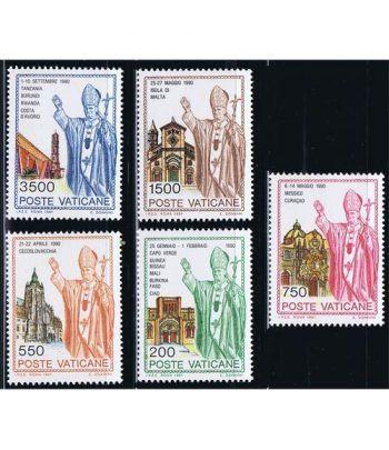 Vaticano 0914/18 Viajes de Juan Pablo II (V) 1991.  - 2