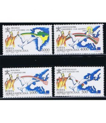 Vaticano Aereo 092/95 Viajes de Juan Pablo II (V) 1992.  - 2