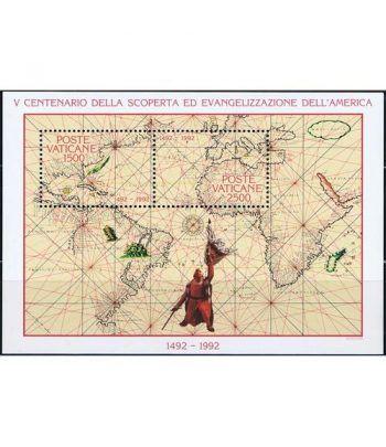 Vaticano HB 13 500 Años descubrimiento América 1992  - 2