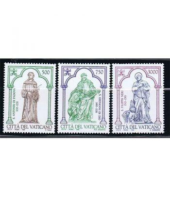 Vaticano 1020/22 Santos de la Iglesia 1995.  - 2
