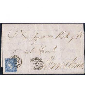 Historia Postal. Sobre 1865 Tarrasa a Barcelona.  - 1