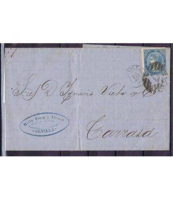 Historia Postal. Sobre 1867 Sevilla a Tarrasa.  - 2