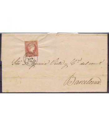 Historia Postal. Sobre 1859 Tarrasa a Barcelona.  - 2