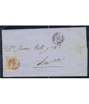Historia Postal. Sobre 1868 Tarrasa a Barcelona.  - 2