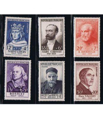 Francia sello 989/994 Celebridades S. XIII al XX  - 1