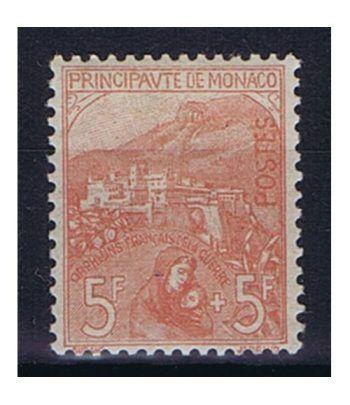 Mónaco sello 33 Huérfanos de la Guerra. Fijasellos.  - 1