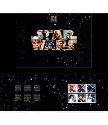 Cine Gran Bretaña 2017 Star Wars 40 Aniversario. Folder especial  - 2
