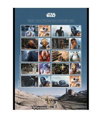 Cine Gran Bretaña 2017 Star Wars El Último Jedi Androides.  - 2
