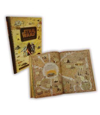 5150A Libro Star Wars con HB y mapa galáctico. Cine  - 1