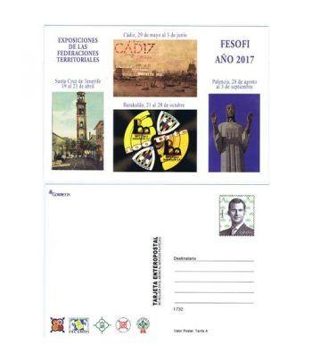 Entero Postal Año 2017 Exposiciones Territoriales FESOFI IV.  - 2