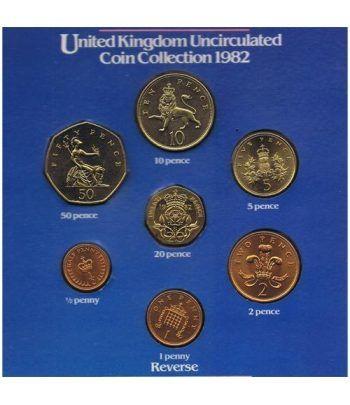 Estuche monedas Inglaterra 1982. 7 monedas  - 1