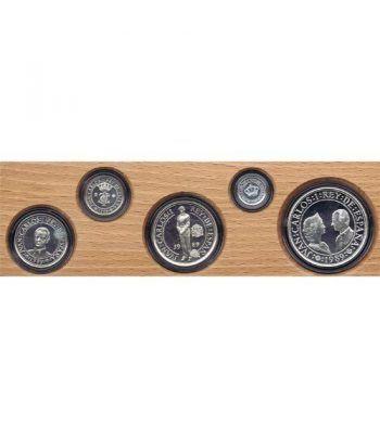 Colección V Centenario 1992. 4 Estuches. 20 monedas plata.  - 1