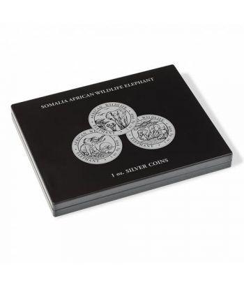 LEUCHTTURM Estuche de madera para 20 monedas ELEFANTE.  - 1