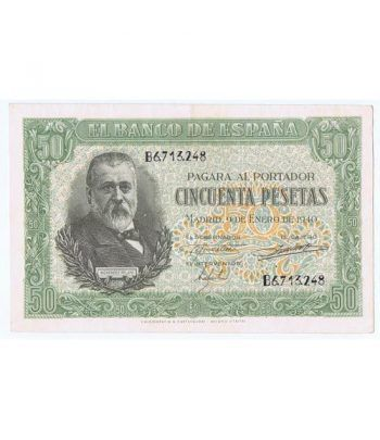 (1940/01/09) Madrid. 50 Pesetas. EBC+. Serie B6713248  - 1