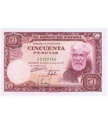 (1951/12/31) Madrid. 50 Pesetas. EBC. C2316184  - 1