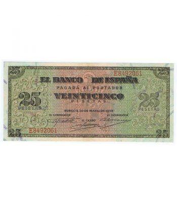 (1938/05/20) Burgos. 25 Pesetas. EBC. Serie E8492061  - 1