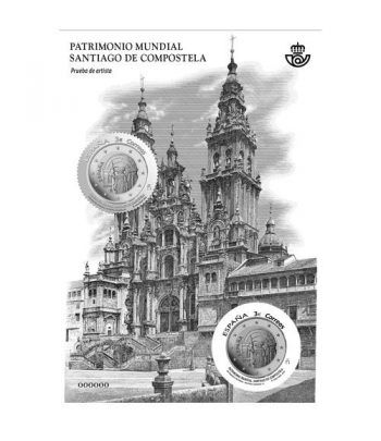 Prueba Lujo 136 Patrimonio Mundial Santiago 2018. Sello plata.  - 2
