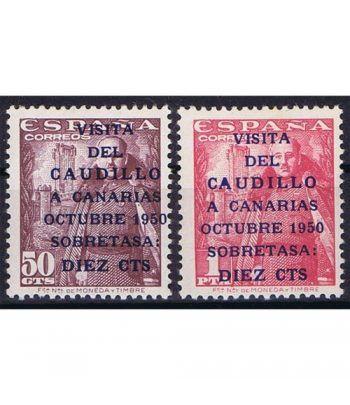1088/9 Canarias Correo. Marcas de óxido.  - 1