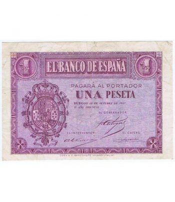 (1937/10/12) Burgos. 1 Peseta. EBC. Serie F2251994  - 1