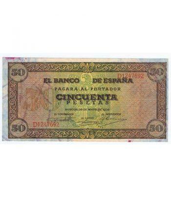 (1938/05/20) Burgos. 50 Pesetas. EBC. Serie D1247692  - 1