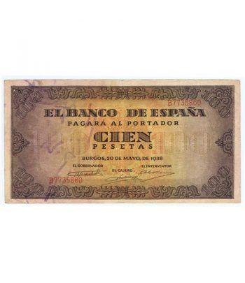 (1938/05/20) Burgos. 100 Pesetas. EBC. Serie B7735860  - 1