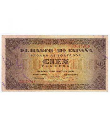 (1938/05/20) Burgos. 100 Pesetas. EBC. Serie G8134916  - 1