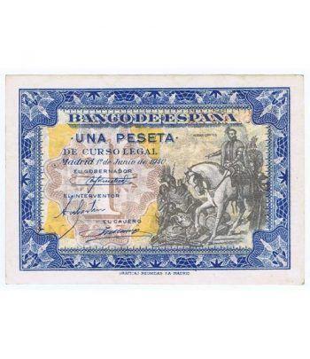 (1940/06/01) Madrid. 1 Peseta. SC. Serie E0684943  - 1