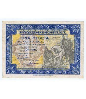 (1940/06/01) Madrid. 1 Peseta. EBC. Serie B2152339.  - 1