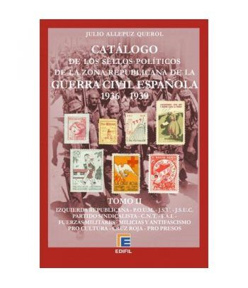 EDIFIL. Sellos políticos zona republicana Guerra Civil. Tomo II  - 1