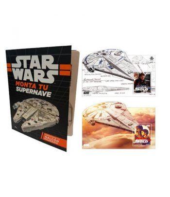 5224A Libro Star Wars con HB y Nave Halcón Milenario. Cine  - 1