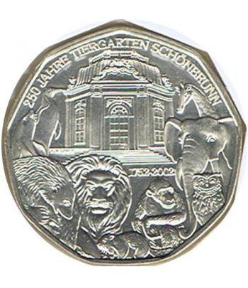 moneda Austria 5 Euros 2002 (nueve esquinas) Zoo. Mono  - 1