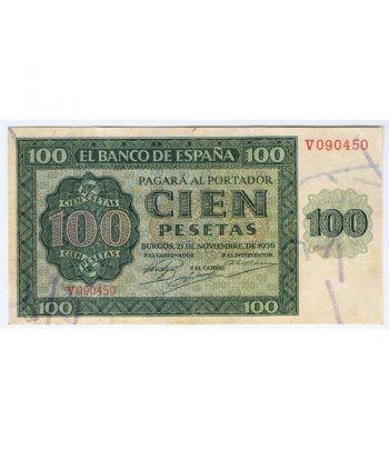 (1936/11/21) Burgos. 100 Pesetas. MBC.  - 1